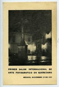 Mexique Queretaro Etiquette Premier Salon Photographique International 1953