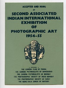 India Bombay Label Second International Photo Exhibition 1954-1955