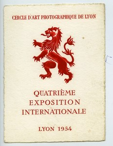 France Lyon Label 4th International Photo Exhibition 1954