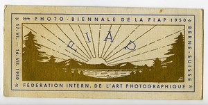 Switzerland Bern Label First International Photo Exhibition FIAP 1950