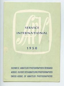Switzerland SAPV Label Amateur Photographers Exhibition 1950