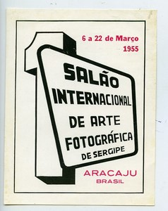 Brazil Aracaju Label First International Exhibition Photographic Arts 1955