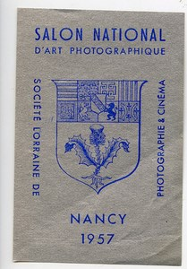 France Nancy Label National Exhibition Photographic Arts 1957