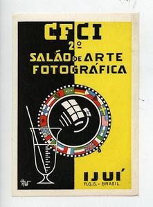 Brazil Ijui Label 2nd International Exhibition Photographic Arts 1950's
