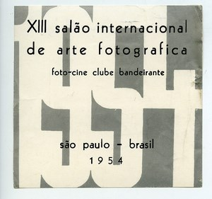 Brazil Sao Paulo Label XIIIth International Exhibition Photographic Arts 1954