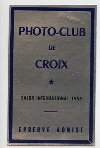 France Croix Photo-Club Label International Photo Exhibition 1955
