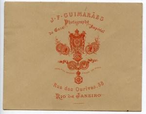 Brazil Rio de Janeiro Photographer's Advertising Envelope J.F. Guimaraes 1890
