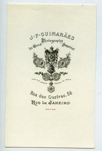 Brazil Rio de Janeiro Photographer's Advertising Paper J.F. Guimaraes 1890