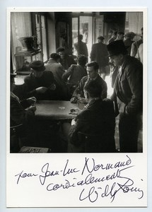 France Carte Postale avec dedicace autographe de Willy Ronis 1990