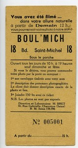 France Paris Advertising Card Photographer Boul'Mich ca 1930
