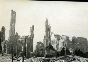 Belgium Ypres Ieper Cloth Hall Ruins WWI War Disaster Old Photo 1918