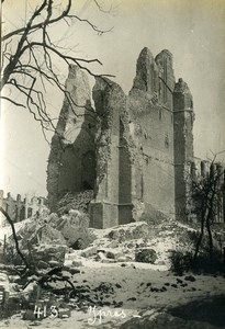 Belgium Ypres Ieper Ruins WWI War Disaster Old Photo 1918