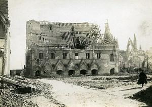 Belgium Nieuport Nieuwpoort Ruins WWI War Disaster Old Photo 1918