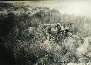 Belgium Nieuport Nieuwpoort Soldiers hidden Dunes Camouflage WWI Old Photo 1918