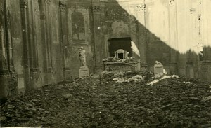 Belgium Tournai Church Ruins WWII War Disaster Old RPPC Photo 1945