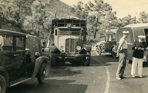 France Mémoires d'une Dépanneuse Accident de Voiture Camion Ancienne Photo 1935