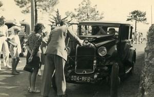 France Mémoires d'une Dépanneuse Accident de Voiture Ancienne Photo 1935