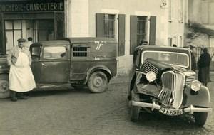 France Mémoires d'une Dépanneuse Accident de Voiture Boucherie Mouillon Ancienne Photo 1935