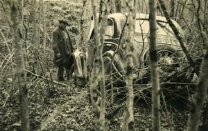 France Mémoires d'une Dépanneuse Accident de Voiture Peugeot? Ancienne Photo 1935