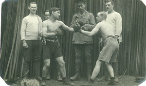France Montreuil Hucqueliers WWI English Military Boxing Old Photo 1915