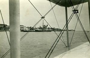 Vietnam Saigon Cam Ranh Bay viewed from a Seaplane? Steamer Verdun Photo 1935
