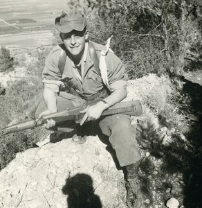 Algeria Independence War French Soldier & Rifle Photographer's Shadow Photo 1960