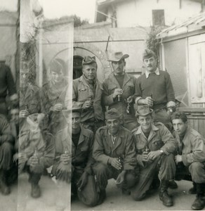Algeria Independence War French Soldiers Group Old Photo 1960