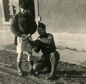 France BA 121 Nancy-Essey Military Service Men Goofing around Photo 1958