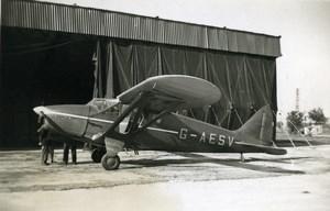 United Kingdom Aviation Heston Phoenix Airplane G-AESV Old Photo 1940