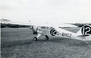 United Kingdom Aviation Auster Plus Airplane G-AHGZ Old Photo 1940