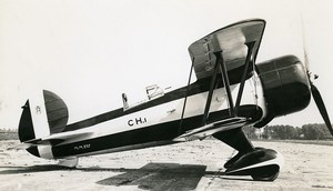 Italy Aviation Caproni CH1 Gnome engine Airplane Old Photo 1940