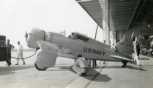 USA Aviation Northrop XFT 1 Fighter Whirlwind 625HP US Navy Old Photo 1940