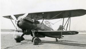 USA Aviation Curtis XP 6F Airplane Old Photo 1940