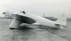USA Aviation Kinner Sportwing Airplane NC13791 Old Photo 1930's