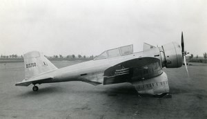 USA Aviation Northrop Gamma 2E Wright Cyclone SR 1820 Airplane Old Photo 1930's
