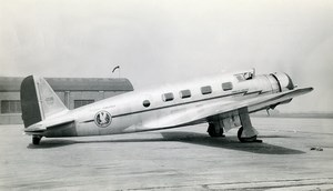 USA Aviation Vultee V IA Cyclone American Airlines Airplane Old Photo 1930's