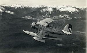 USA Aviation US Coast Guard Curtiss SOC-4 Seagull Aircraft Old Photo 1940
