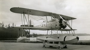 USA Aviation Vought 02U-1 USS Saratoga Aircraft Old Photo 1940