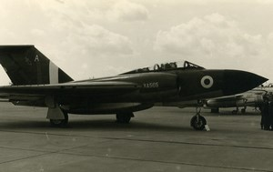 United Kingdom Aviation Gloster Javelin XA565 Aircraft Old Photo 1960