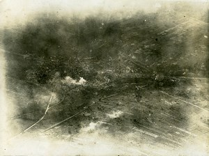 France WWI Vaux Battle Old Aerial Photo July 1 1918
