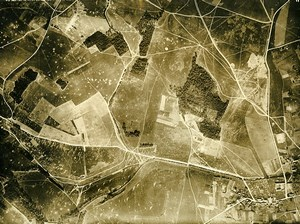 France WWI Bonnes Chateau Thierry Battle Old Aerial Photo July 7 1918