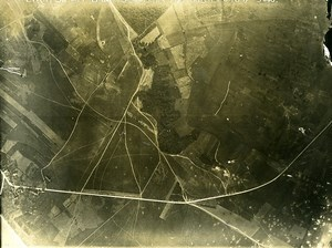 France WWI Bonnes Chateau Thierry Battle Old Aerial Photo June 14 1918