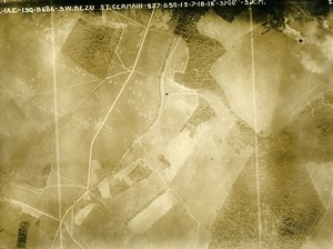 France WWI Bezu St Germain Chateau Thierry Battle Old Aerial Photo July 15 1918