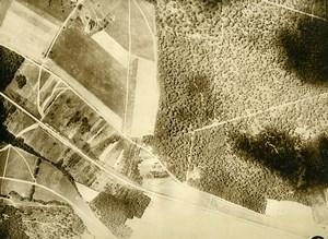 France WWI Monthiers Bataille de Chateau Thierry Battle Old Aerial Photo 1918