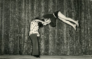 France Music Hall Circus Acrobat les Guinders Old Photo Grard 1950