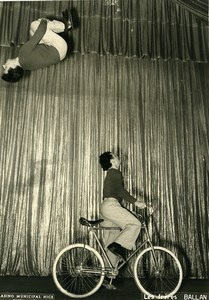 France Music Hall Circus Cycling Acrobat Ballan Brothers Old Photo Erpé 1950