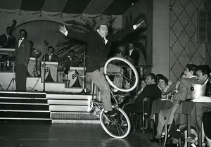 France Music Hall Circus Cycling Acrobat Old Photo Limonnier 1950