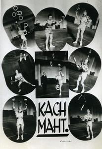 France Music Hall Circus Acrobat Juggler Kach Maht Old Photo Endrey 1950