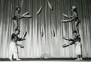 France Music Hall Circus Acrobat Jugglers the Rolandi Old Photo 1950