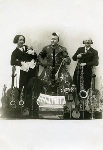 Belgium Liege Music Hall Circus Musician Clowns Old Grossens Photo 1930